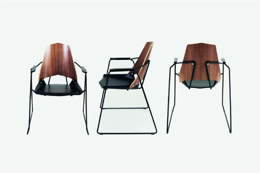 Ejemplo de diseño de producto industrial silla de la colección Singular diseñada por el estudio de diseño internacional Manuel Torres Design